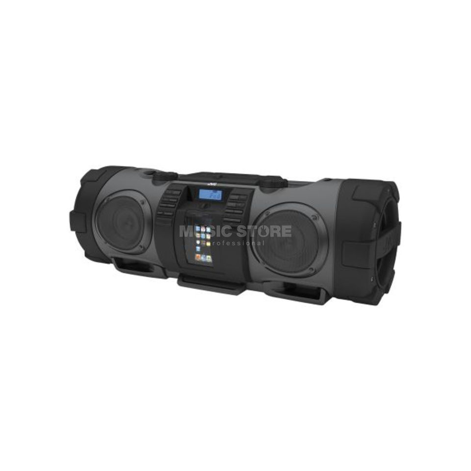 JVC RV-NB52B Boomblaster CD Player iPod Dock & Remote, Black Produktbillede
