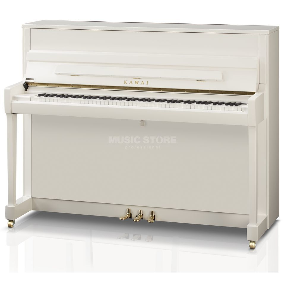 Kawai K 200 WH/P S ATx - II white polished with Chrome Produktbillede