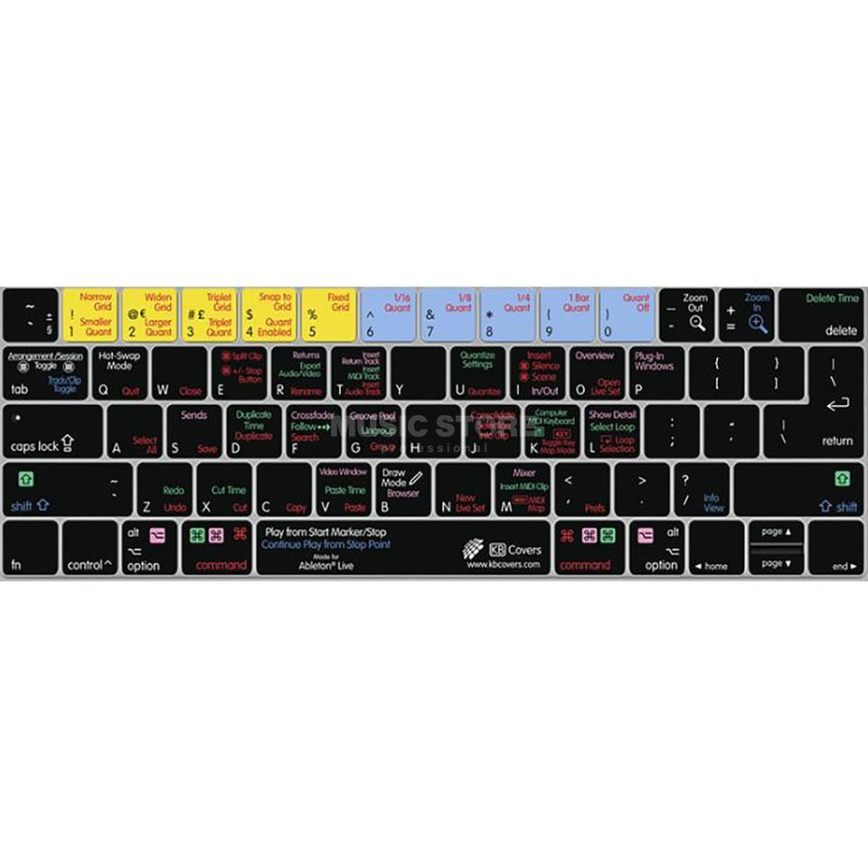 buy popular e02ab 80d86 Ableton Live Keyboard Cover for MacBook/Air 13/Pro (2008+)