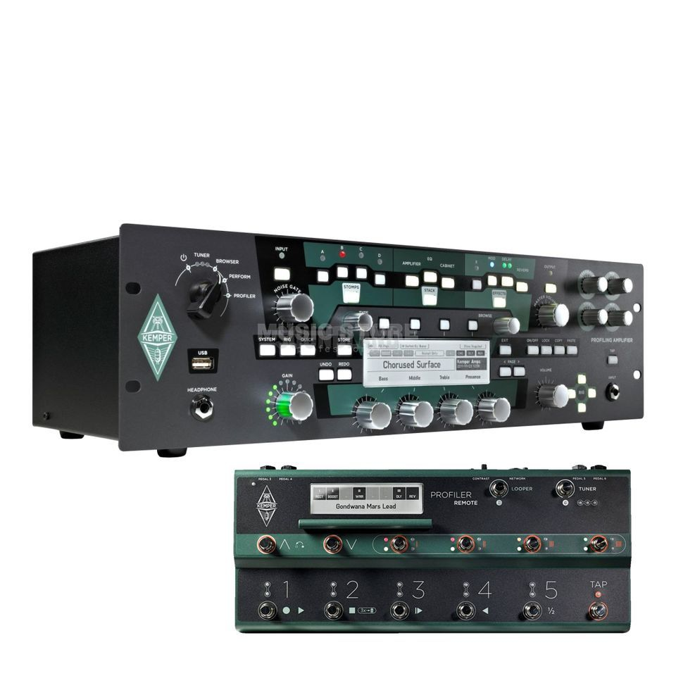 Kemper Profiler Rack Amp Modeller & Remote (Black) Product Image
