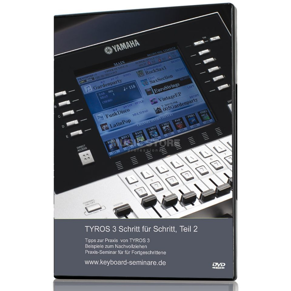 Keyboard-Seminare TYROS 3 Step by Step 2 Video DVD pt. 2 (German) Produktbillede