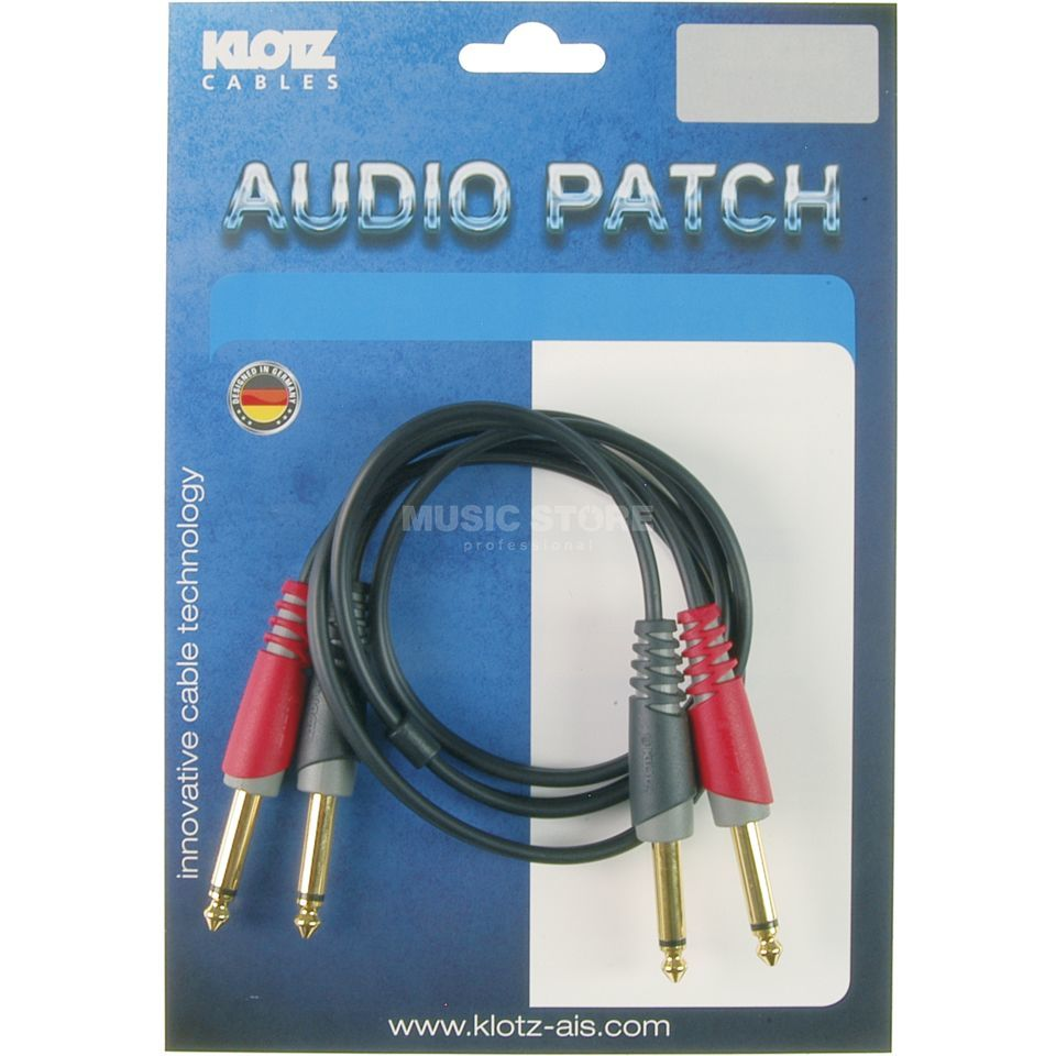 Klotz AT-JJ0600 Twin-Audiokabel Klinke 6m Produktbild