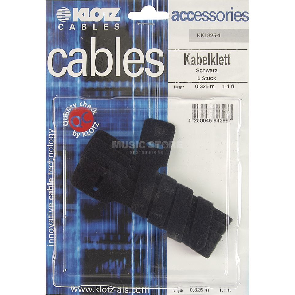 Klotz Cable Straps with Grommet black, 5 pcs., KKL325-1 Produktbillede