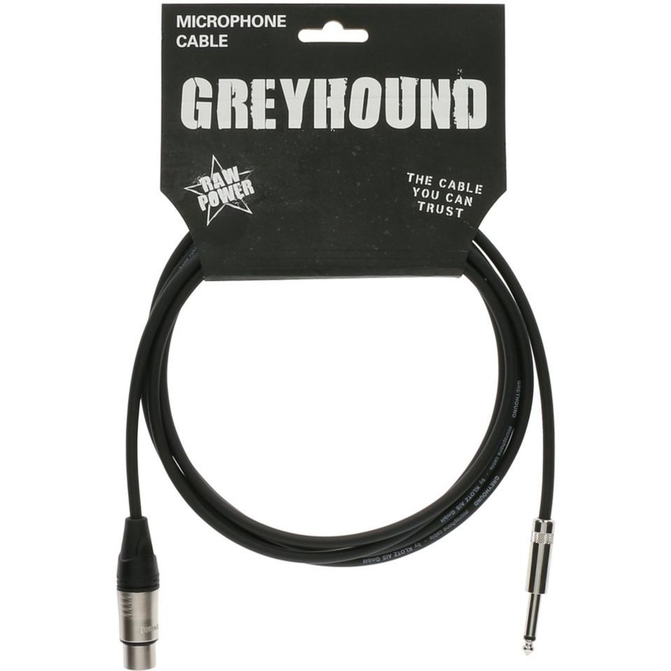 Klotz GRK1FP1000 Greyhound Microphone Cable XLR female - Jack 10m Produktbillede