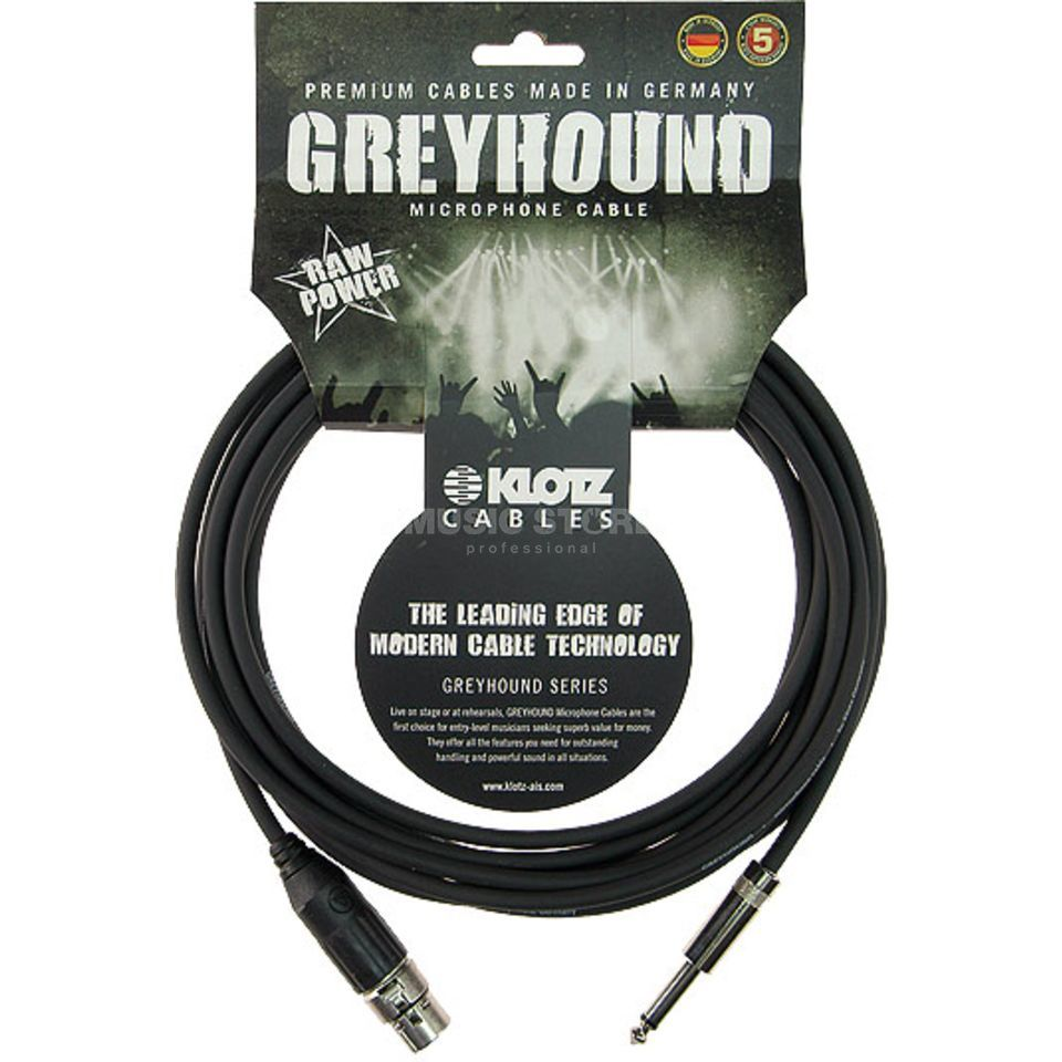 Klotz GRSXP030 Greyhound Mikrofonkabel XLR female - Klinke 3m Switchcraft Produktbild