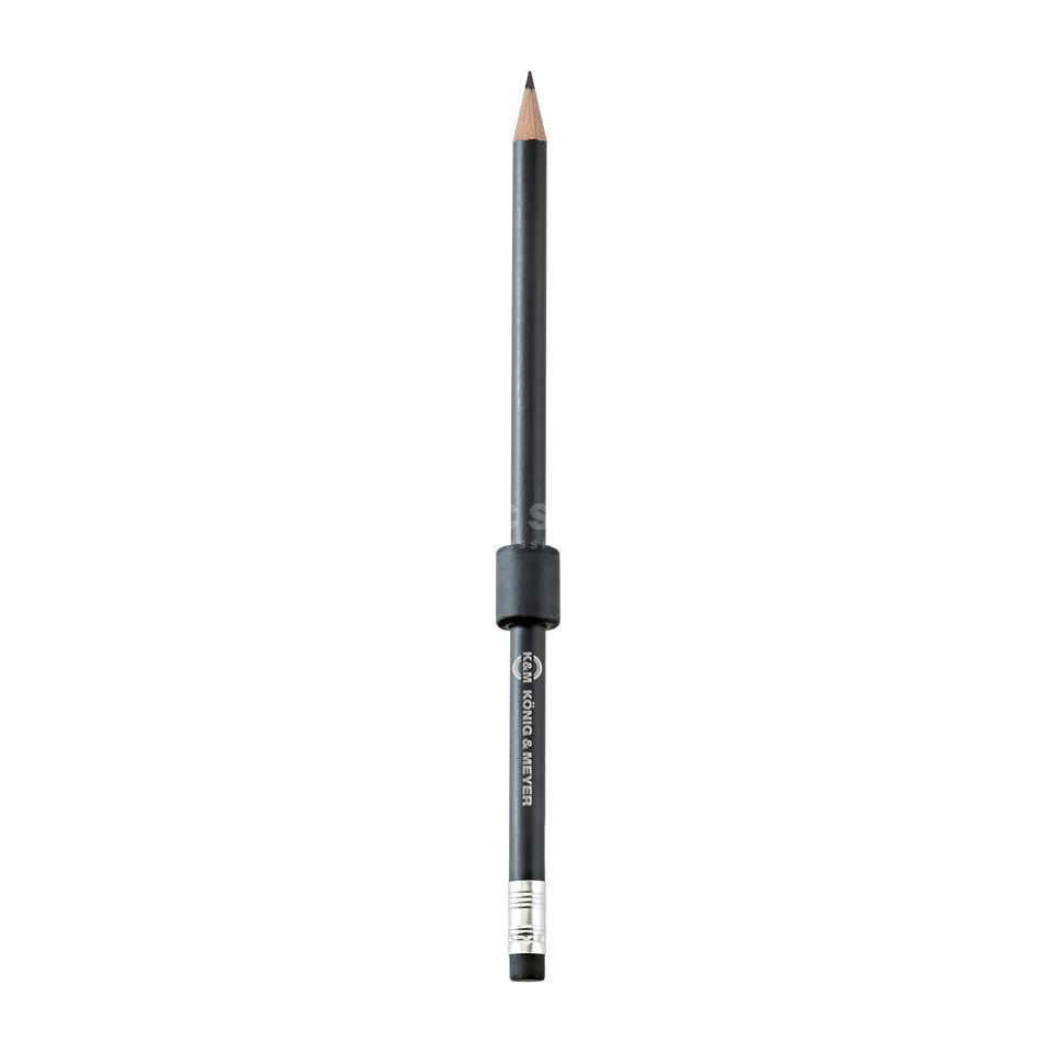 König & Meyer 16099 Holding magnet with pencil - black Imagem do produto
