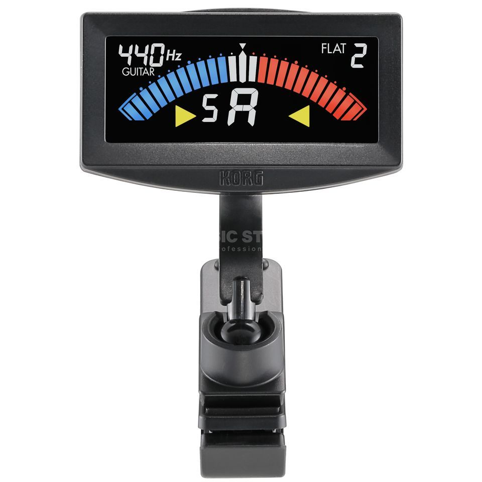 Korg AW-4G PitchCrow Clip-on Tuner Guitar black Produktbillede