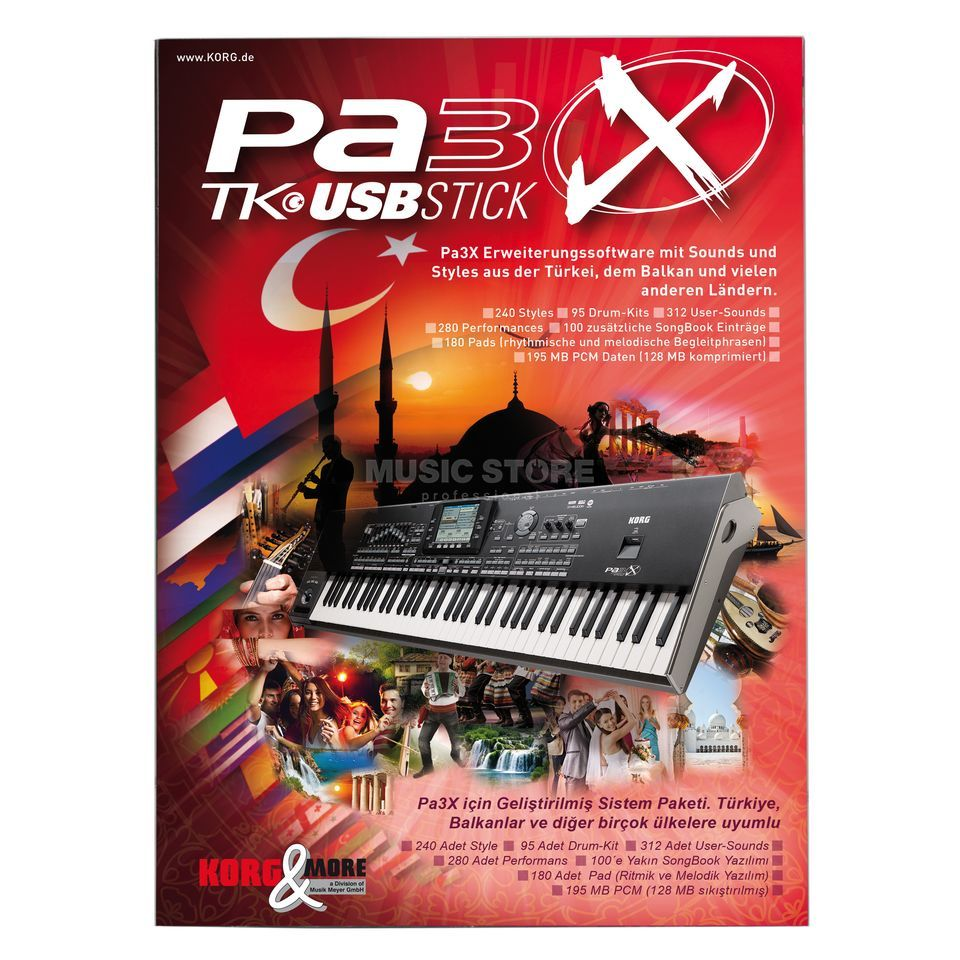 Korg Turkish-USB-Stick for all Pa3X-models Produktbillede