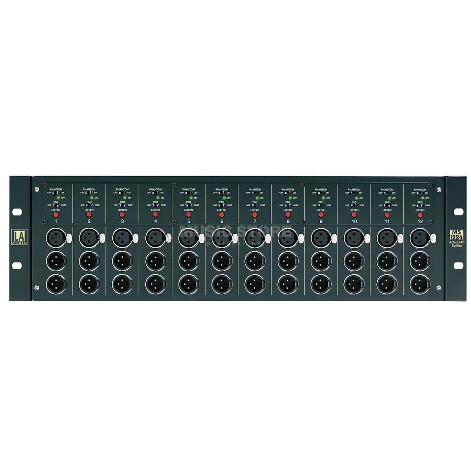 LA Audio MS1224 12-Channel Splitter, 3HE Produktbillede