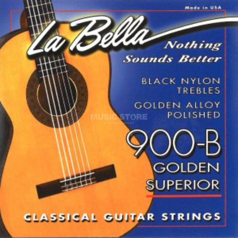 La Bella 900B Nylon Saiten Golden Superior Black Produktbild