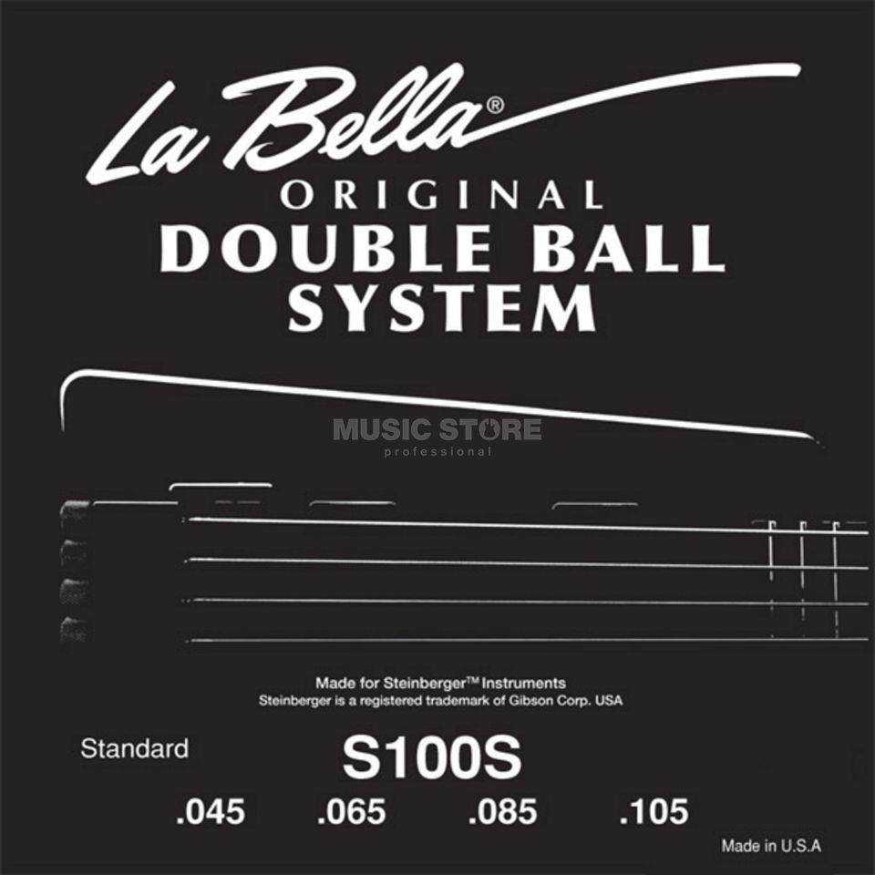 La Bella bas snaren 45-105 Double Ball Steenberger Headless 4saitig Productafbeelding
