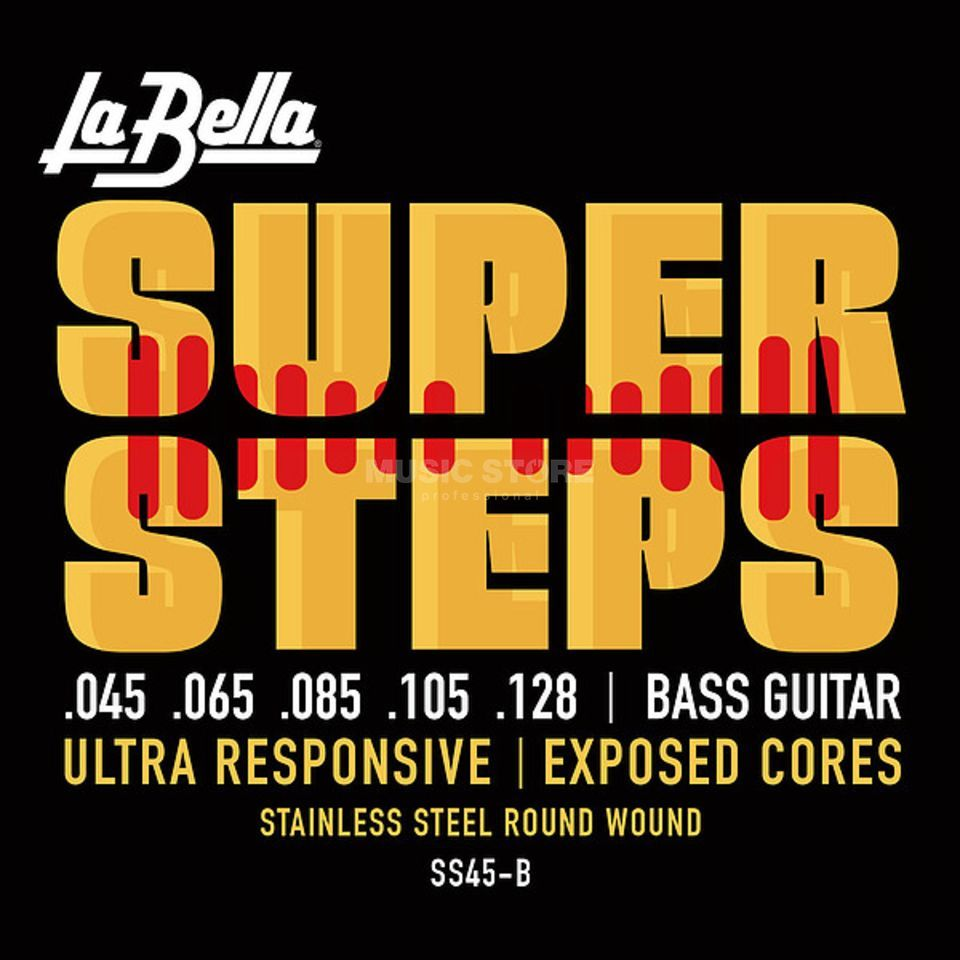 La Bella Bass Strings, 45-128 Super Steps, Tappered Product Image