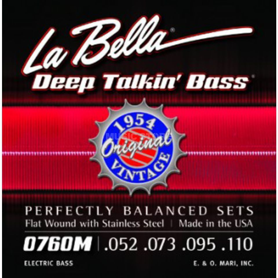 La Bella Bass Strings Set of 4: 52-110,760M James Jamerson,Flatwound Produktbillede