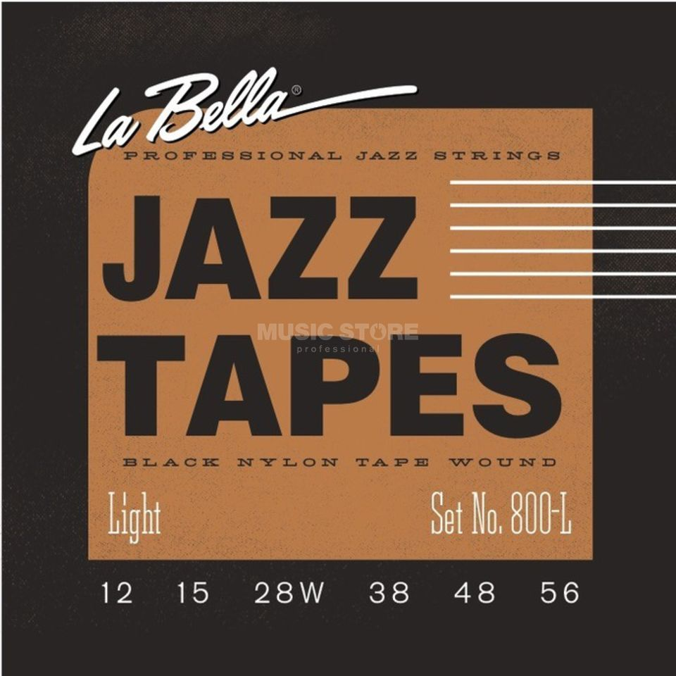 La Bella Black Nylon Saiten 800-L 12-56 Jazz Tapes Produktbild