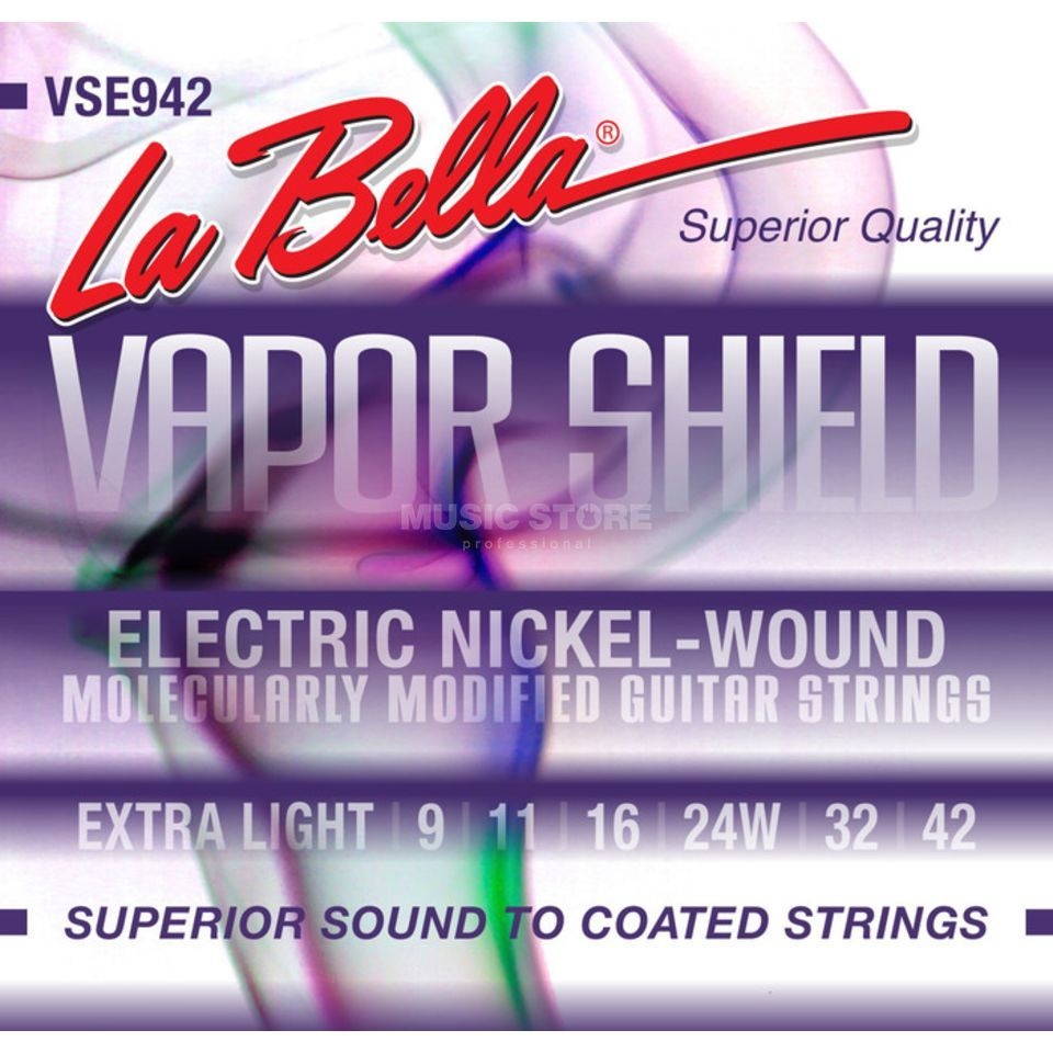 La Bella VSE942 09-42 Vapor Shield E-Guitar Strings XL Produktbillede