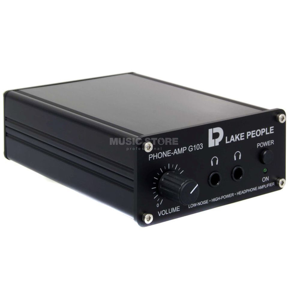Lake People G103-S Headphone Amplifier 2-Channel 15-600 Ohm, unsym. Produktbillede