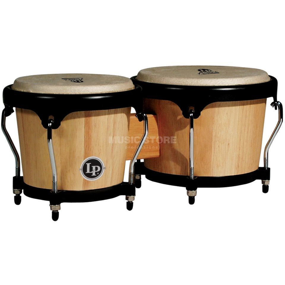 "Latin Percussion Aspire Bongos LPA601-AW, 6 3/4"" + 8"", Natural Wood #AW Immagine prodotto"