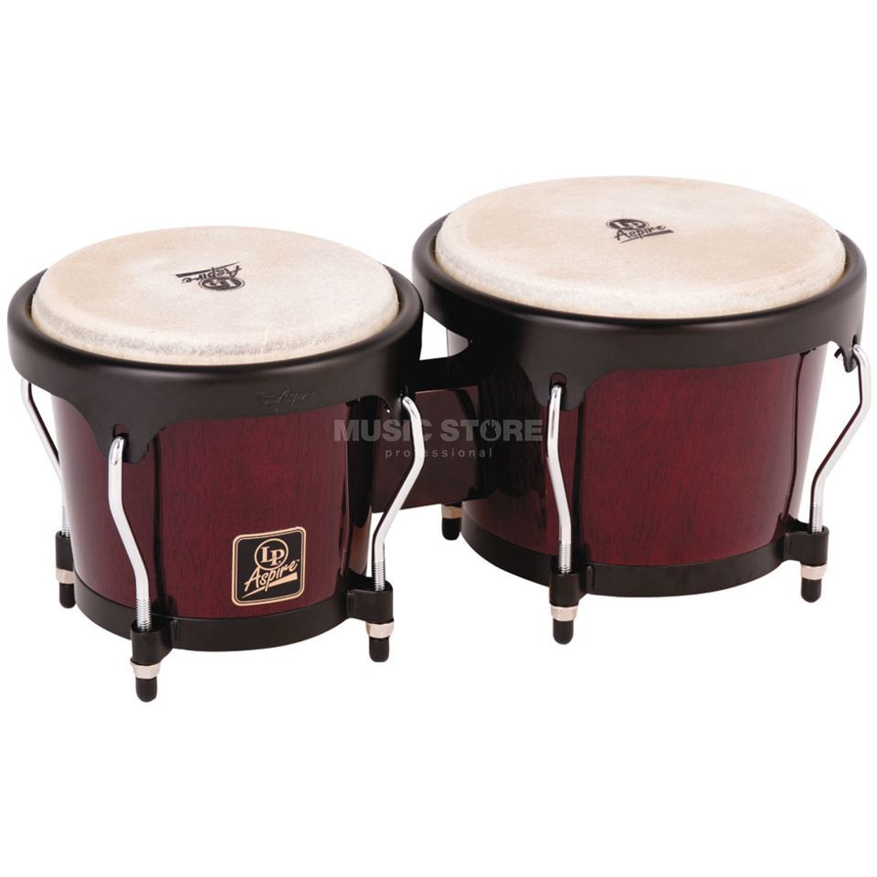"Latin Percussion Aspire Bongos LPA601-DW, 6 3/4"" + 8"", Dark Wood #DW Produktbild"