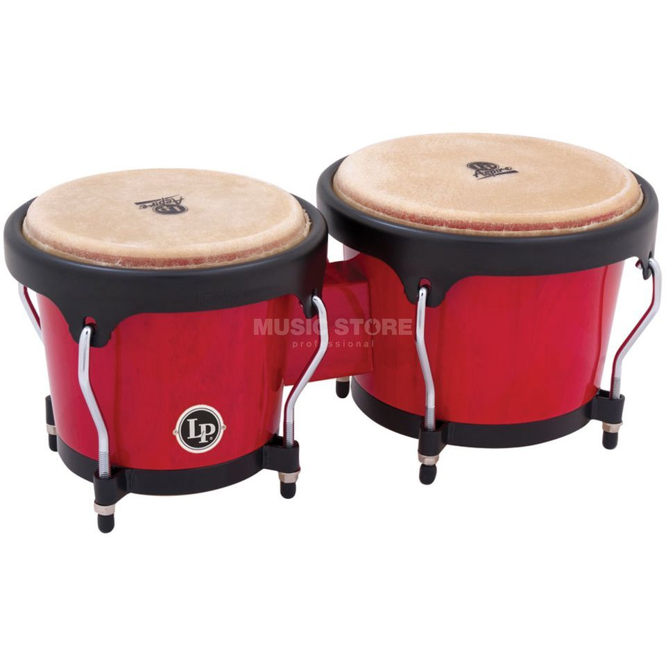 "Latin Percussion Aspire Bongos LPA601-RW, 6 3/4"" + 8"", Red Wood #RW Product Image"