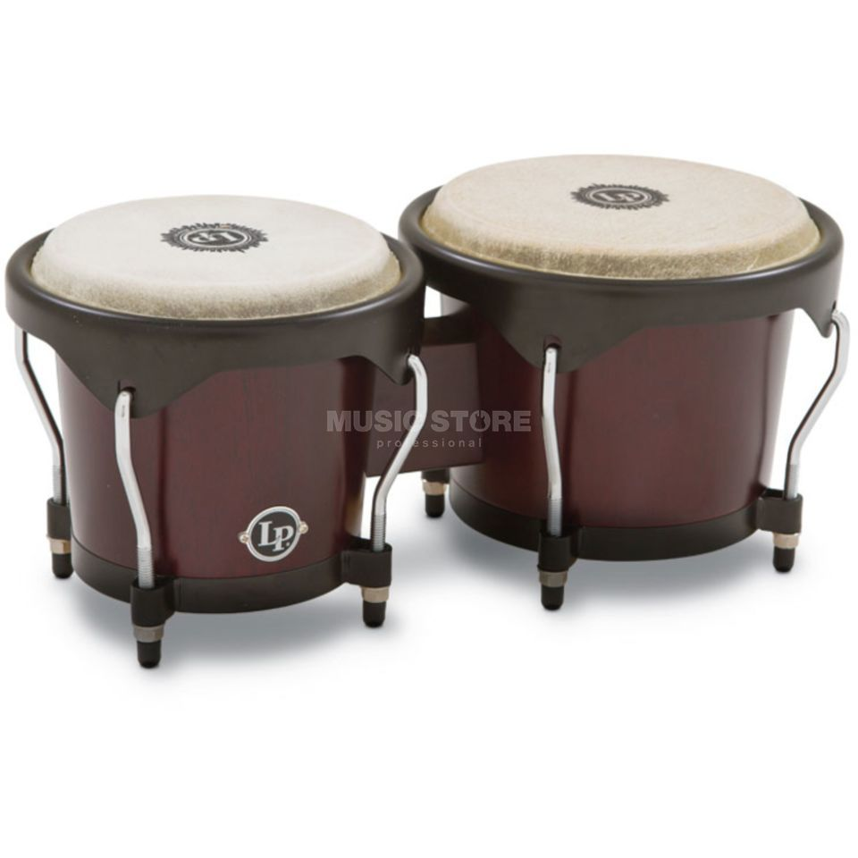 Latin Percussion City Bongos LP601NY-DW, Dark Wood Produktbild