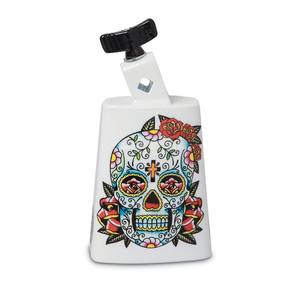 Latin Percussion Cowbell Collect-A-Bell LP204C, Sugar Skull #SS Produktbillede