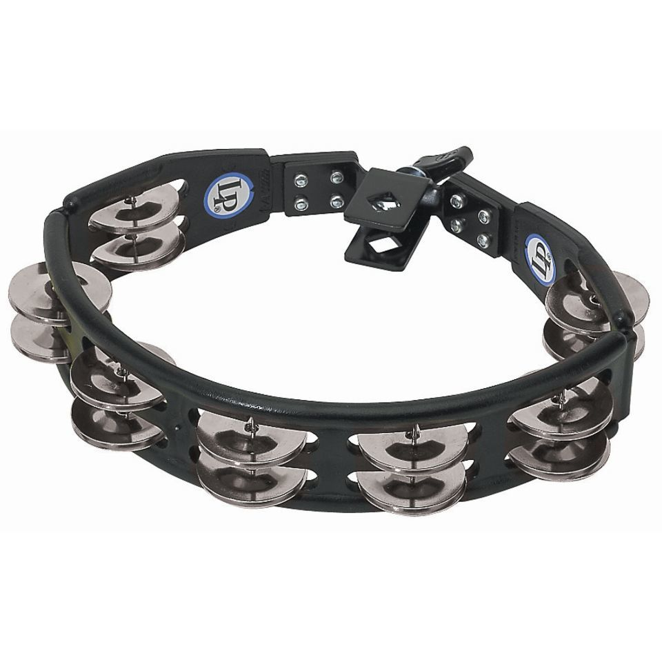 Latin Percussion Cyclops Set Tambourine LP160, zwart, steel jingles Productafbeelding