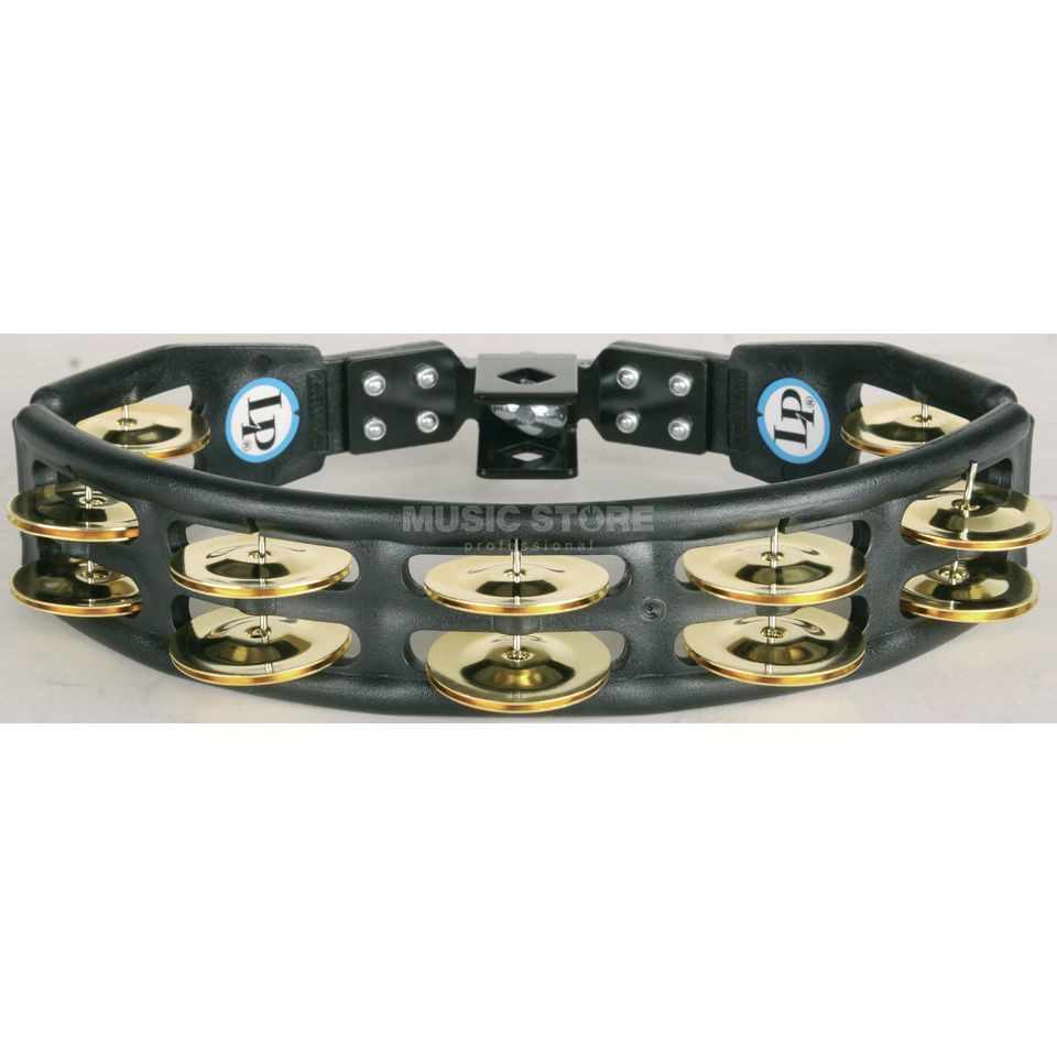 Latin Percussion Cyclops Set Tambourine LP175, black, brass jingles Immagine prodotto