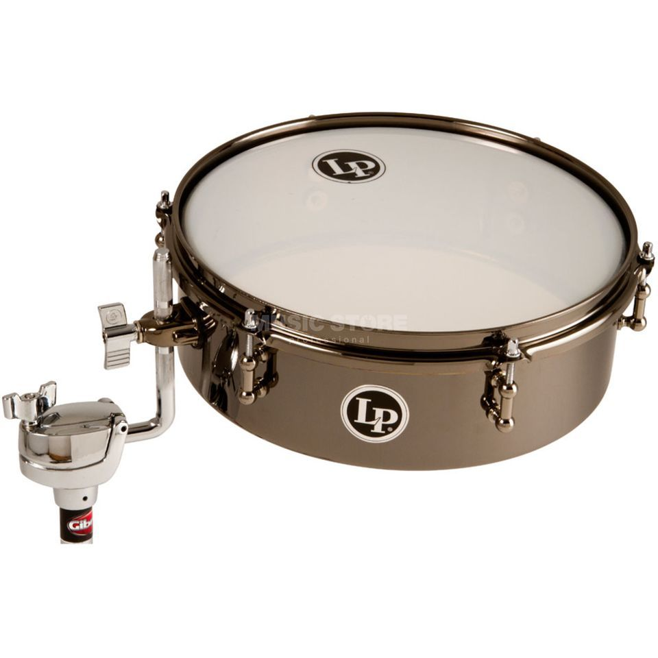 "Latin Percussion DrumSet Timbale LP812-BN, 12""x4"", Black Nickel Produktbild"