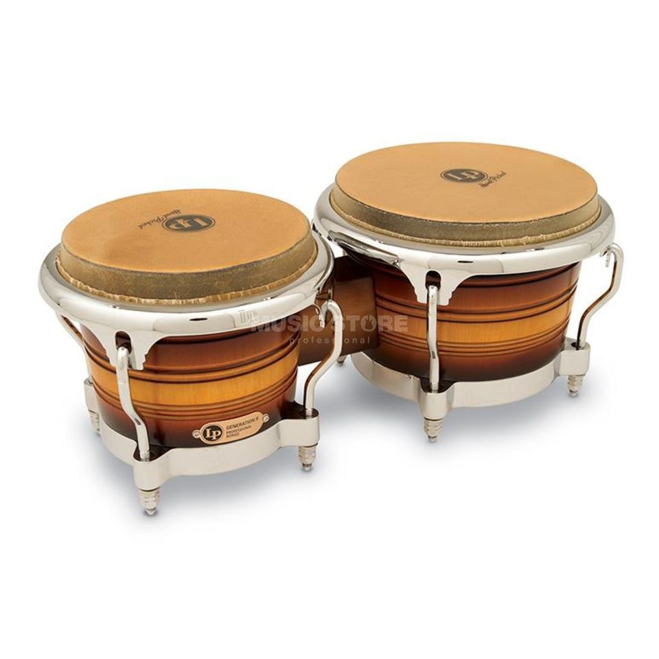 "Latin Percussion Generation II Bongos LP201AX-2 7""+ 8 5/8"", Matte Sunburst Product Image"