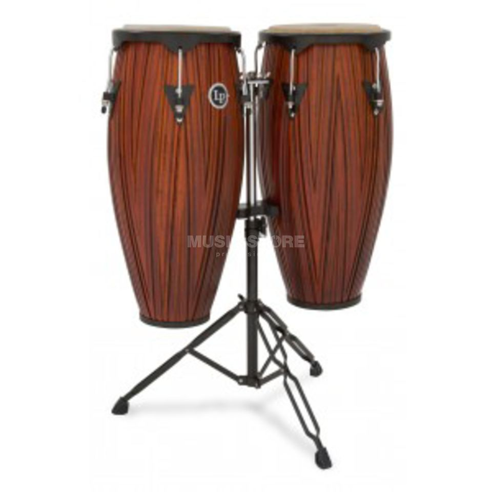 "Latin Percussion LP646NY-CMW, Conga Set 10""+11"" Carved Mango Wood Produktbild"