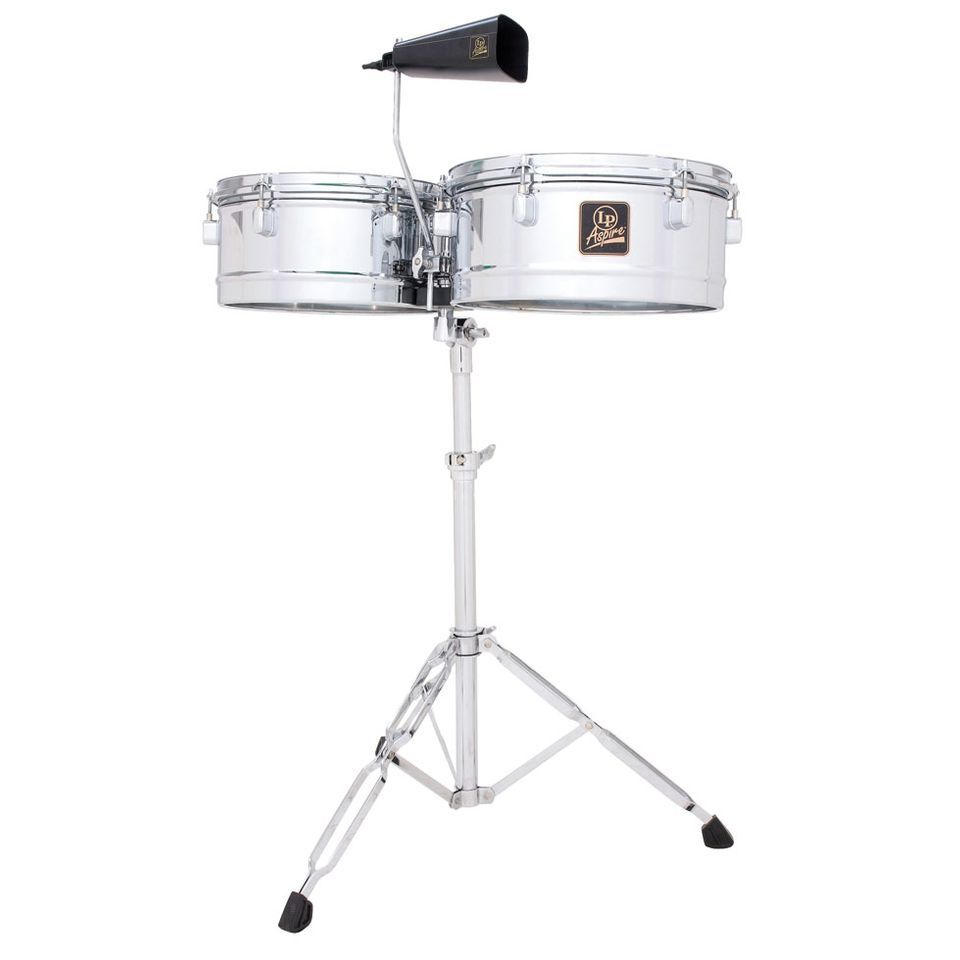 "Latin Percussion LPA256,Timbales, Chrome, 13"" & 14"" Shells Produktbild"