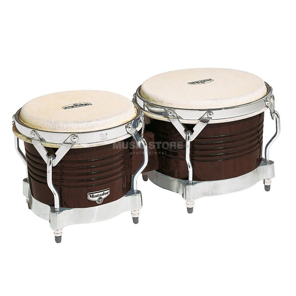 "Latin Percussion Matador Bongos M201, 7 1/4""+ 8 5/8"", Dark Brown Produktbild"