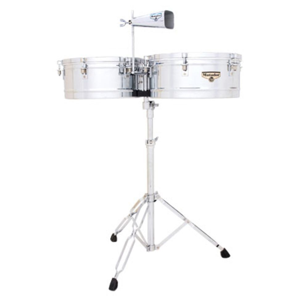 "Latin Percussion Matador Timbales M257, Chrome, 14"" & 15"" Productafbeelding"