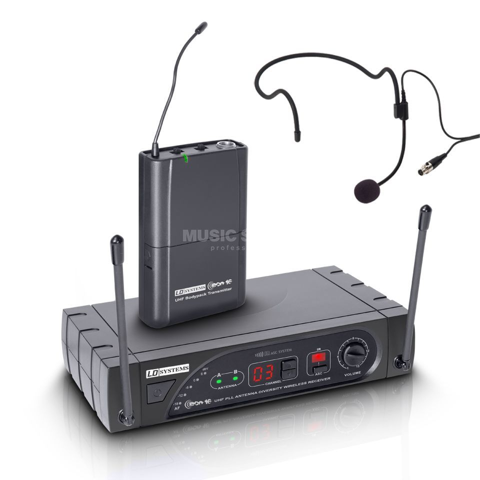 LD-Systems ECO 16 Headset System mit Beltpack, 863 - 865 MHz Produktbild