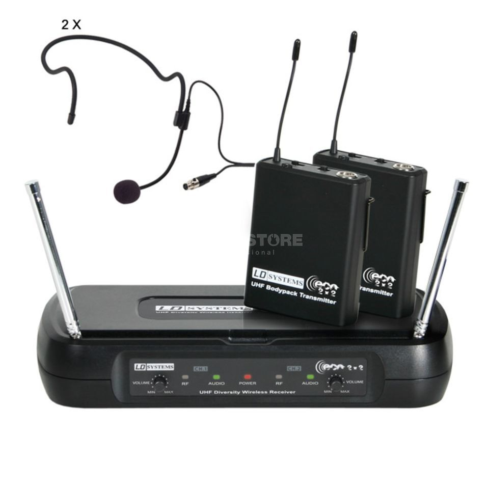LD-Systems ECO 2 Dual Headset Funksystem 863.100MHz / 864.500MHz Produktbillede