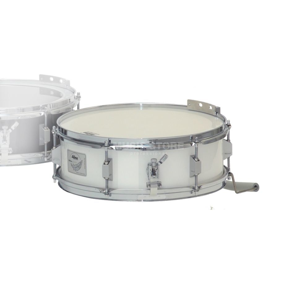 "Lefima Marching Snare MS-SUL-1404, 14""x4,5"", White, Ultra Light Produktbillede"