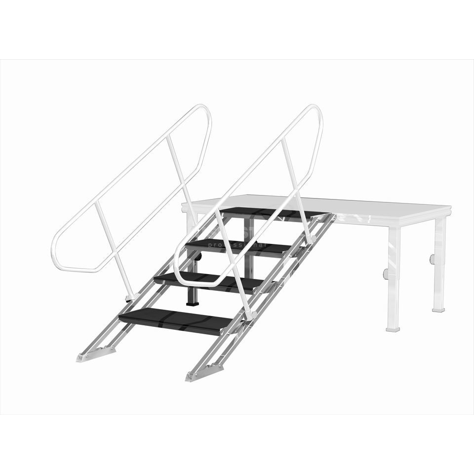 lightmaxx alu stage vario treppe 600 stahl f r 60 100cm. Black Bedroom Furniture Sets. Home Design Ideas