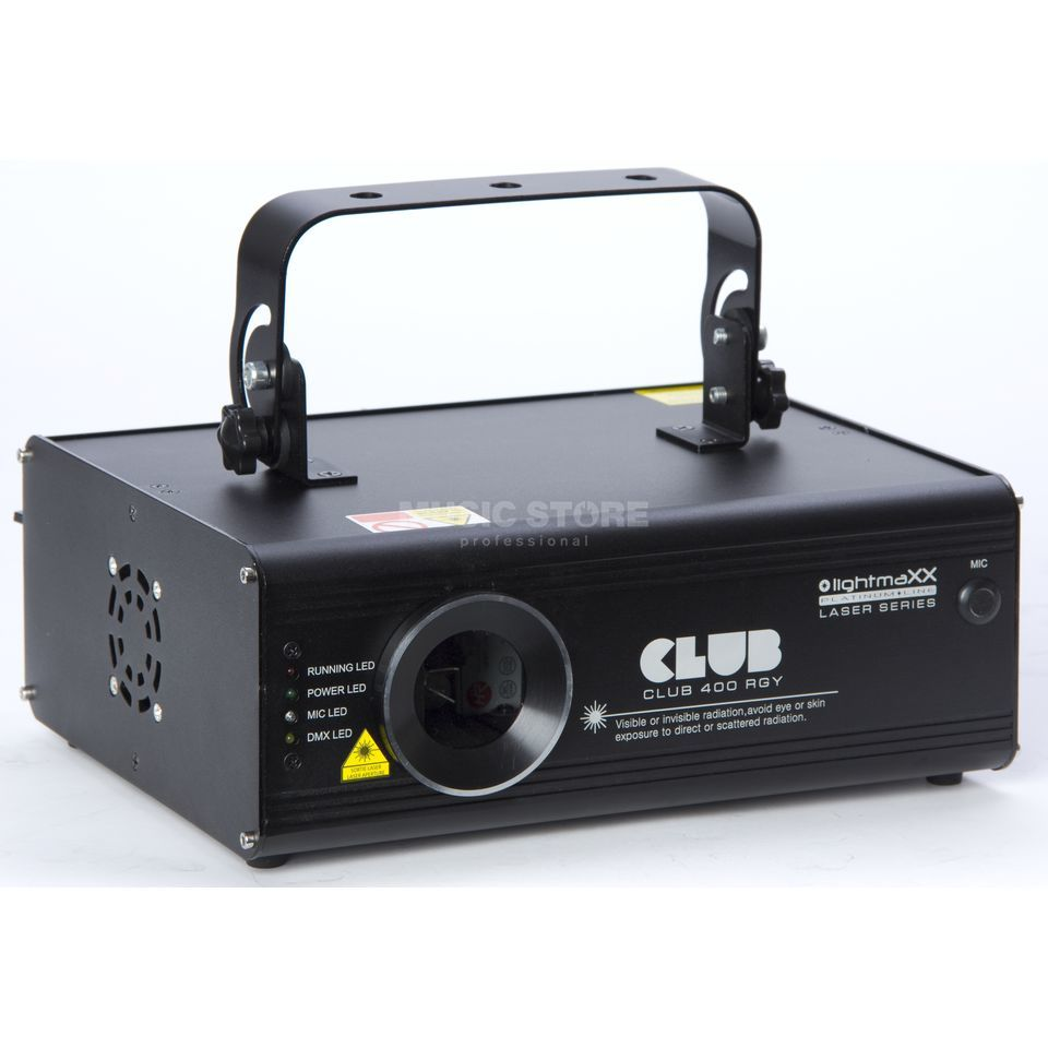lightmaXX CLUB 400 RGY Showlaser, 400mW, ILDA Produktbillede
