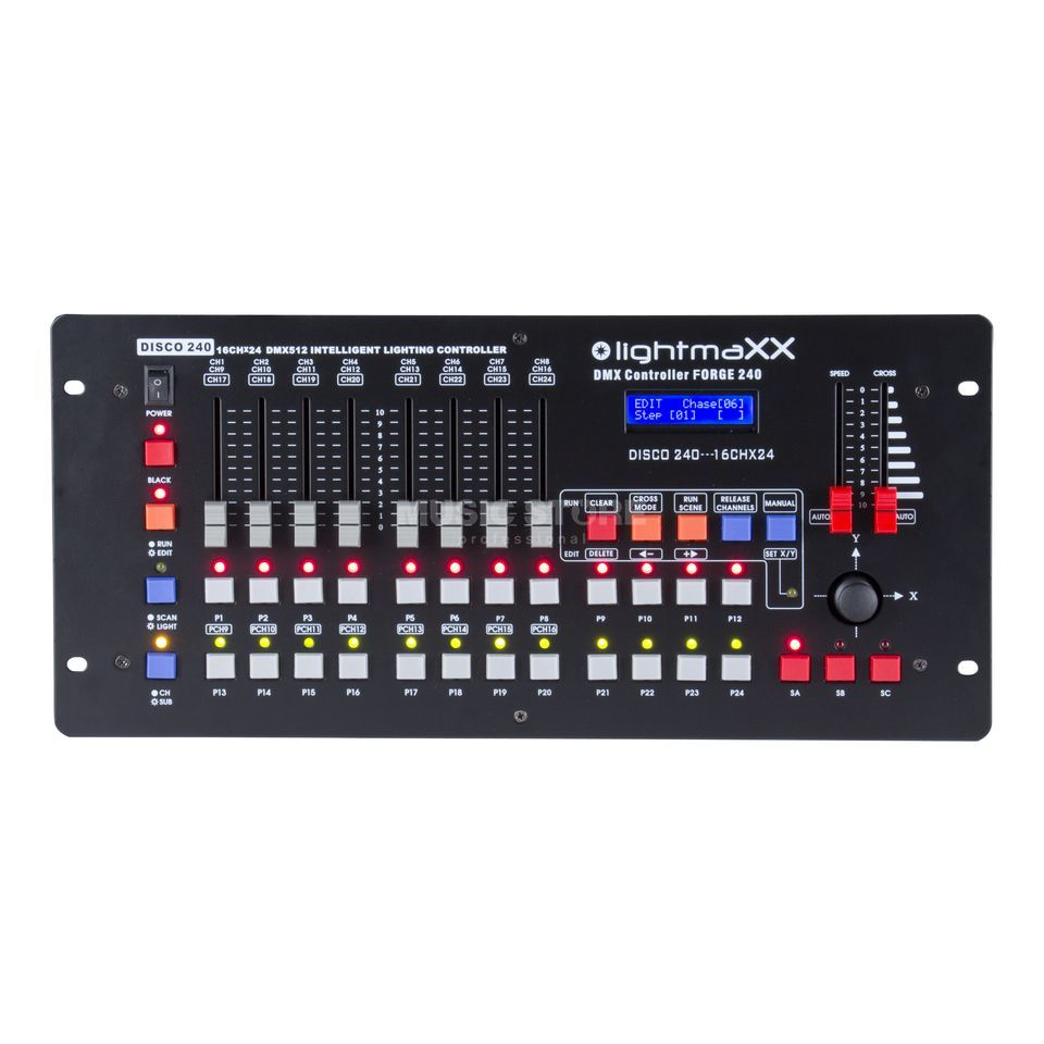 lightmaXX DMX Controller FORGE 240 240 Scenes,12 Chaser,12 Fix. Product Image