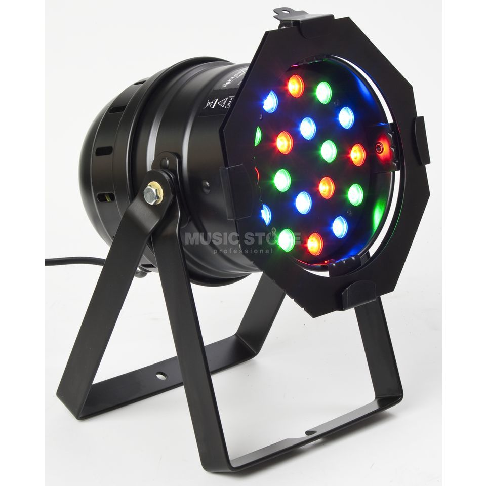 lightmaXX LED PAR 56 HighPower MKII BK 18 x 1W RGB LEDs, black short Produktbillede
