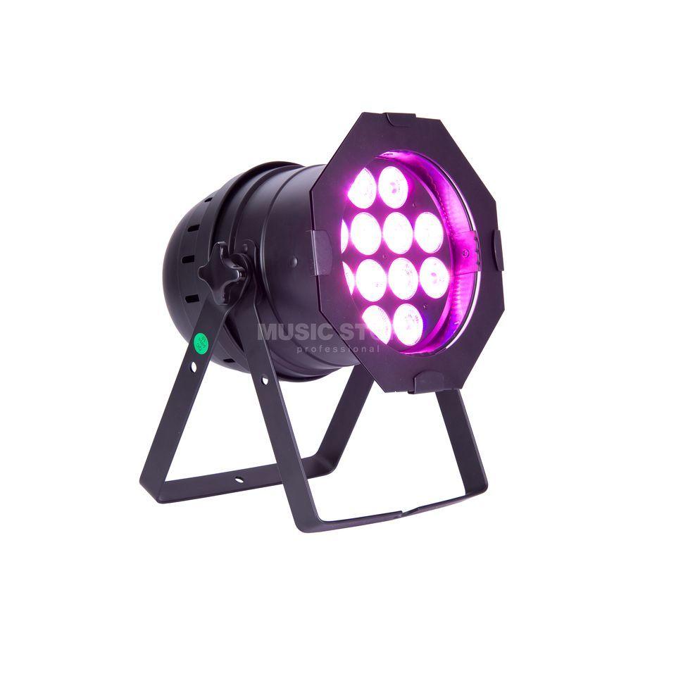 lightmaxx led par 64 complete black 12x 12w rgbawuv leds pmw. Black Bedroom Furniture Sets. Home Design Ideas