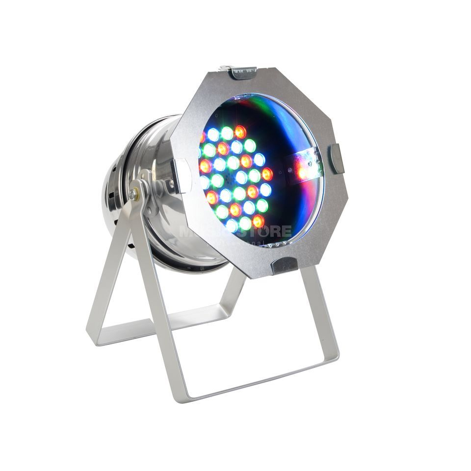 lightmaXX LED PAR 64 HighPower MKII 36x1W RGB LEDs, polished short Produktbillede