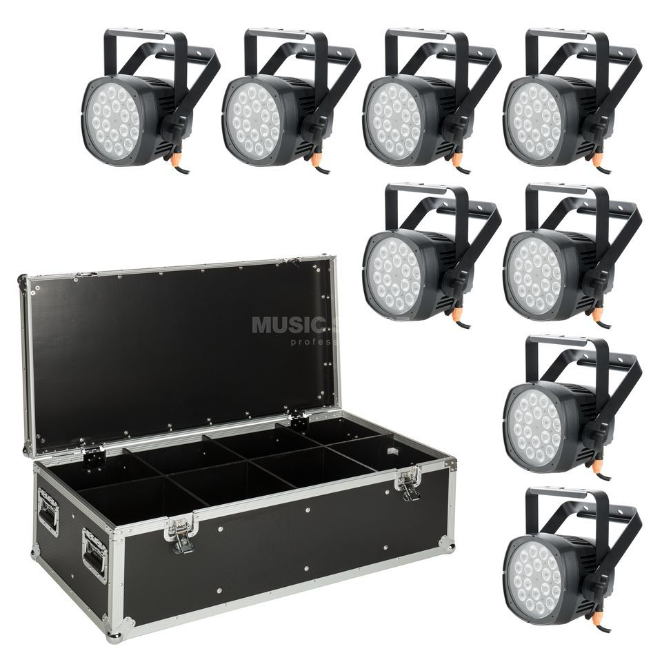 lightmaXX Pro Spot ARC RGBA 8 - Set Produktbillede