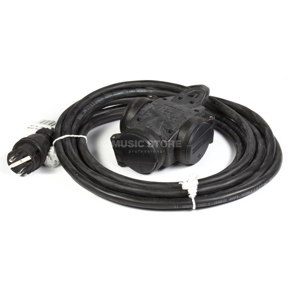 lightmaXX Schuko Cable 3-way 5m