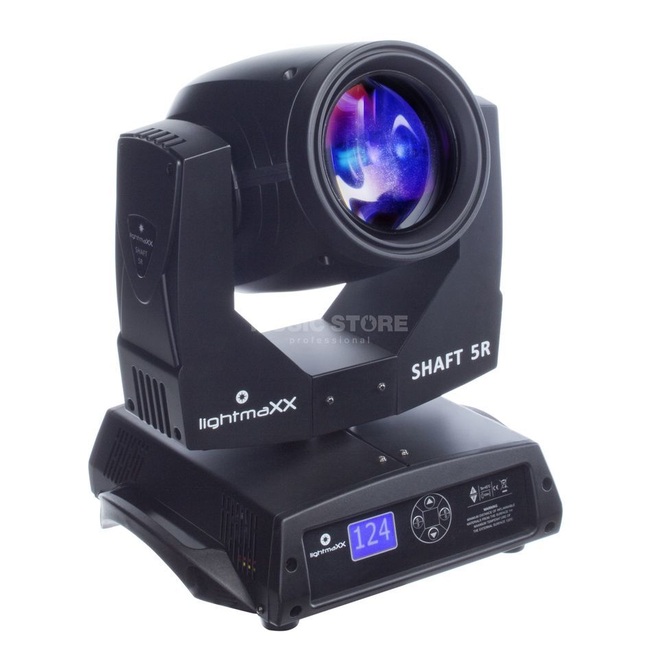 lightmaXX SHAFT 5R Beam Moving-Head im Karton Produktbild