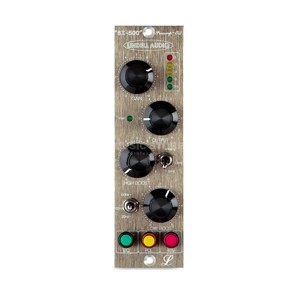 Lindell Audio 6X-500 500 Series Format Mic Preamp & EQ Produktbillede