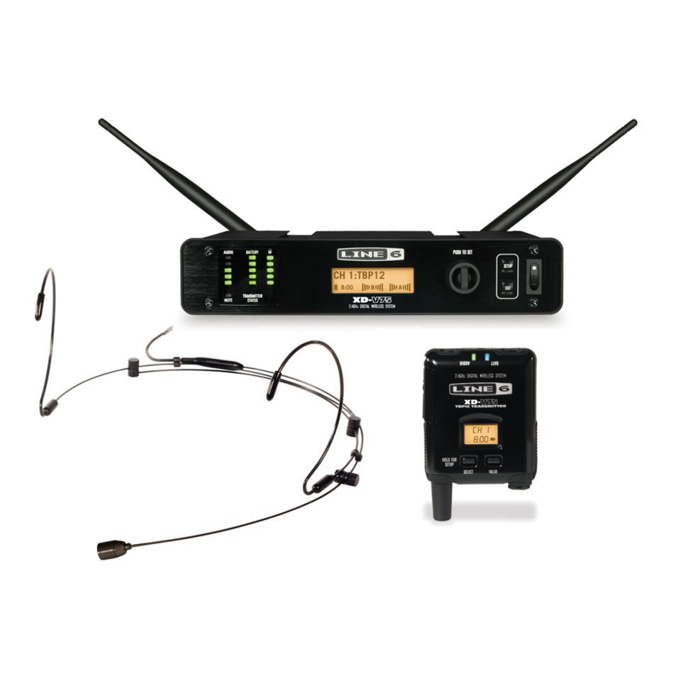 Line 6 XD-V75HS Head-Set System, black Product Image