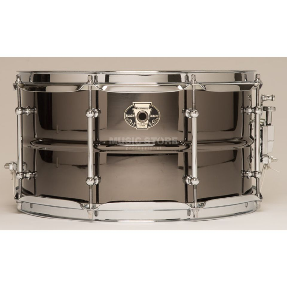 "Ludwig Black Magic Snare LW0713C, 13""x7"" Chrome Produktbillede"