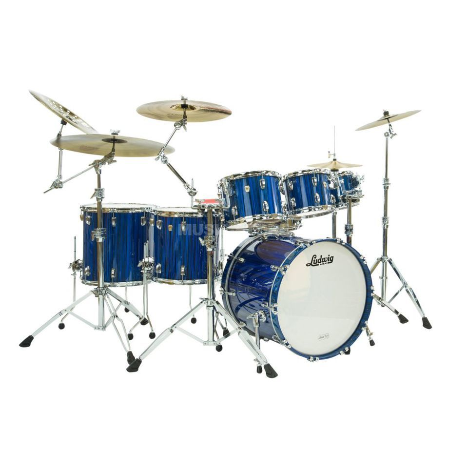 Ludwig Classic Maple Electrostatic ShellSet, Blue Produktbild