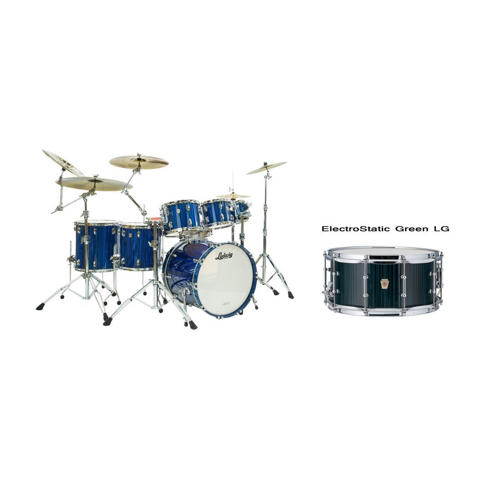 Ludwig Classic Maple Electrostatic ShellSet, Green Produktbillede
